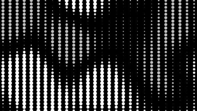 vidéos et rushes de rayé noir et blanc à pois préparation - image en noir et blanc
