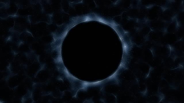 black and white, three dimensional tunnel with deep, dark center - czarna dziura filmów i materiałów b-roll