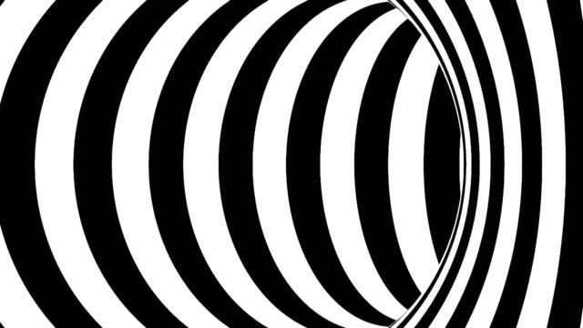 黑白隧道。無縫迴圈 - black and white pattern 個影片檔及 b 捲影像