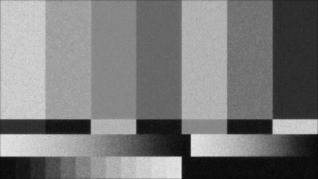 Svartvit TV färg barer video