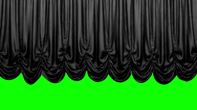 Black Austrian Theater Stage Curtain go UP and DOWN. Animation is looped. Chroma key. High quality video in 4k resolion. opening event stock videos & royalty-free footage