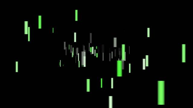 schwarzen hintergrund und rechteck-bewegung - quadratisch zweidimensionale form stock-videos und b-roll-filmmaterial