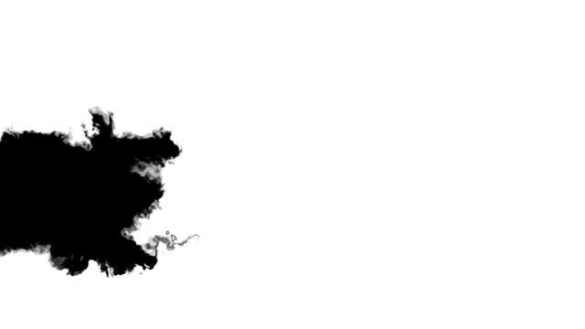 Black banner on white video