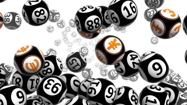 black bingo balls - bingo video stock e b–roll