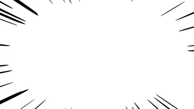 linea effetto cartone animato nero. linee spesse e corte. 20 secondi di lunghezza ver. lo sfondo è trasparente. - concentrazione video stock e b–roll