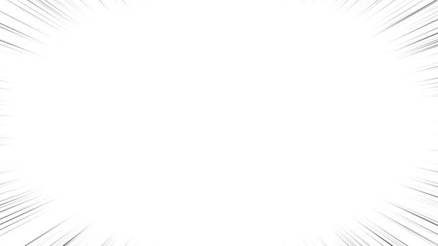linee effetto cartone animato nero con linee sottili. esistono due tipi di linee di lunghezza diversa. - concentrazione video stock e b–roll
