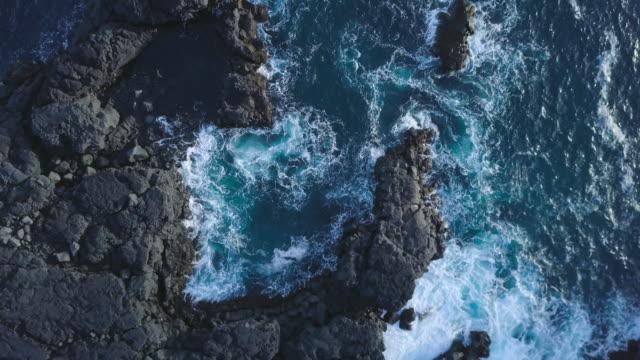 i̇zlandaca kenarı siyah kayalıklarla - kayaç stok videoları ve detay görüntü çekimi