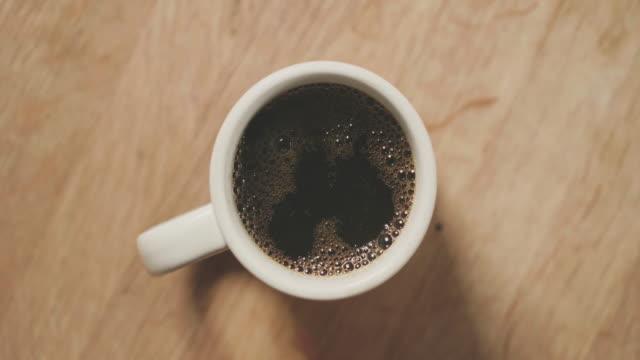 Black coffee for breakfast