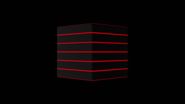 3 d の黒キューブ 4 k のコンピューター アニメーションを生成します。 - 立方体点の映像素材/bロール