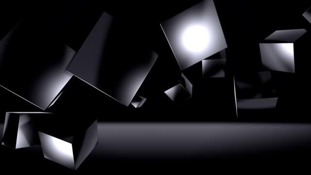 Black Dark Cubes Background (Loopable) video