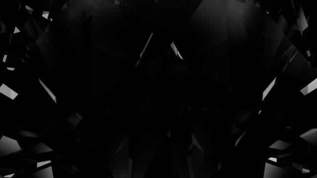 black diamond loopable bakgrund - glas material bildbanksvideor och videomaterial från bakom kulisserna