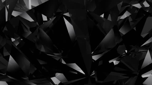 Black diamond loopable background video