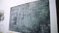 istock Black dirty chalkboard at a pottery studio 1202730244