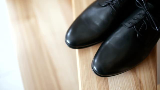 Black elegand shoes video
