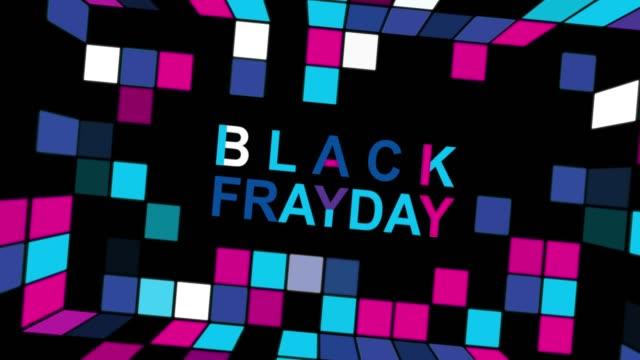 네온 사인 배경 4k 애니메이션 원활한 루프와 블랙 프라이데이 광고 - black friday 스톡 비디오 및 b-롤 화면