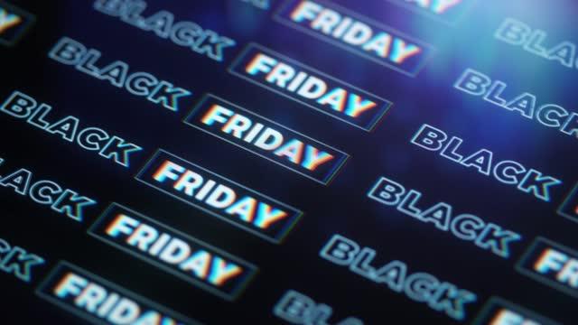 vídeos de stock e filmes b-roll de black friday background pattern - black friday