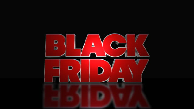 black friday mega sale 3d text looping animation - black friday стоковые видео и кадры b-roll