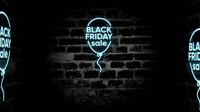 black friday neon sign - black friday стоковые видео и кадры b-roll