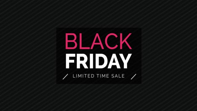 black friday promotional sale banner - black friday стоковые видео и кадры b-roll