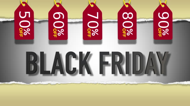 Black Friday Sale 3D Looping Animation video