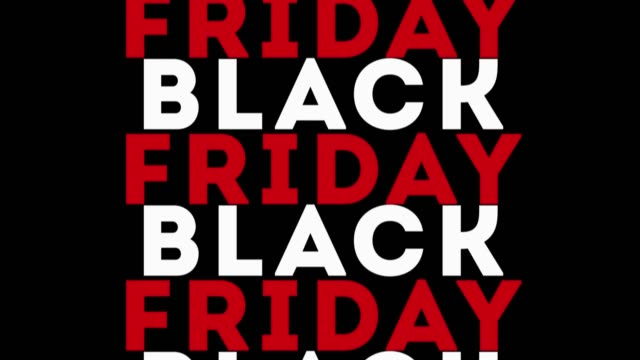 vidéos et rushes de black friday vente animation 4k - black friday