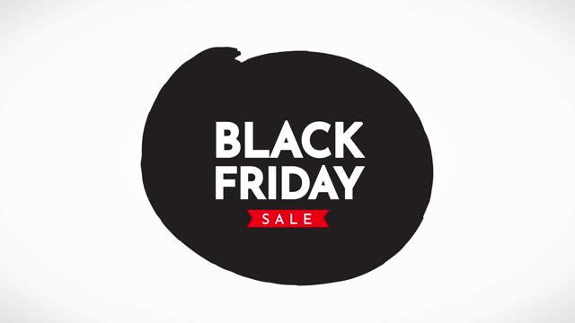 블랙 프라이데이 세일 애니메이션 - black friday 스톡 비디오 및 b-롤 화면