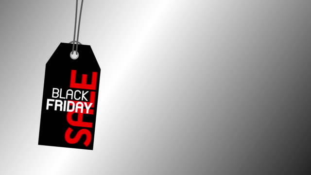 black friday sale banner design of tag on silver background stock video - black friday стоковые видео и кадры b-roll