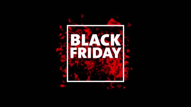블랙 금요일이요 할인  - black friday 스톡 비디오 및 b-롤 화면