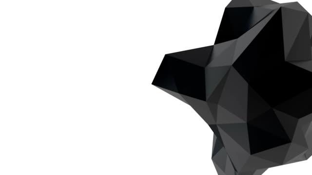 Black geometric shape video