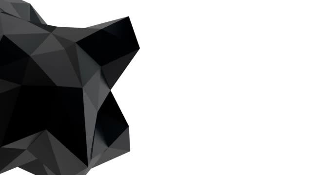 Forme géométrique noir - Vidéo