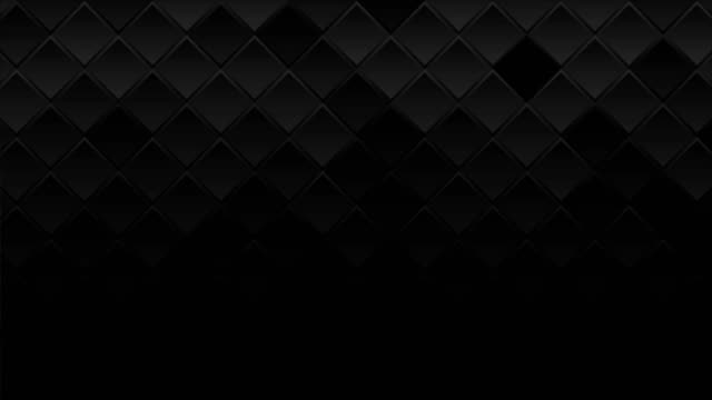 black geometric squares abstract technology motion background - sfondo nero video stock e b–roll