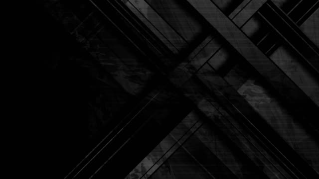 vidéos et rushes de bandes géométriques noires résumé tech grunge motion design - image teintée
