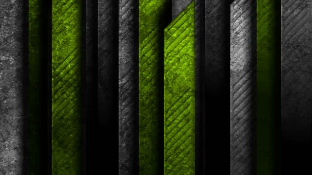 Black green abstract tech geometric motion background