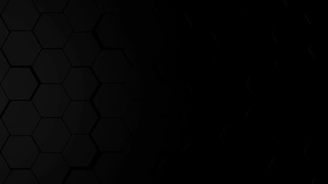 Black Hexagon Background. Loop