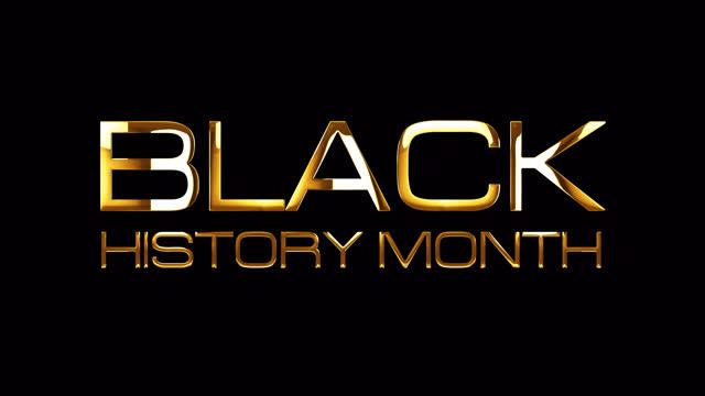 işık etkisi ile siyah tarih ay altın metin. 4k 3d işleme alfa kanal quicktime prores 4444 ile izole şeffaf. black history mont başlık intro kaplama için sorunsuz döngü öğesi. - black history month stok videoları ve detay görüntü çekimi