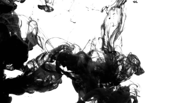 Black Ink falling into Water video
