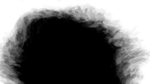 black ink on white background - rozkładać filmów i materiałów b-roll