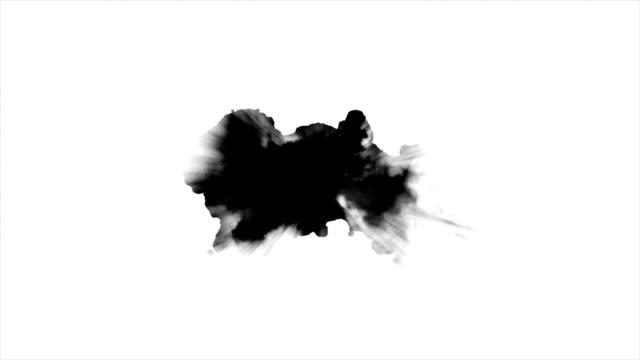 Black ink on white