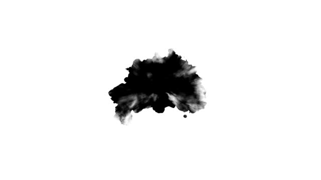 Black ink spot Black paint on white background blob stock videos & royalty-free footage