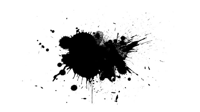 black inks drops - spray filmów i materiałów b-roll