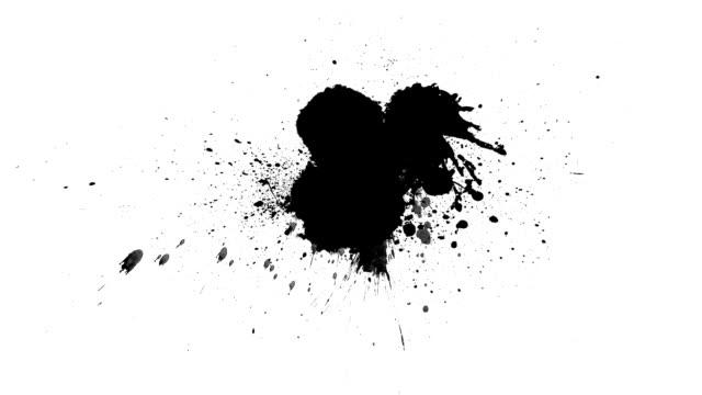 black inks drops - schizzare video stock e b–roll