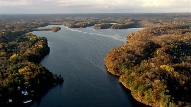 Black Lake - Aerial View - New York,  St. Lawrence County,  United States video