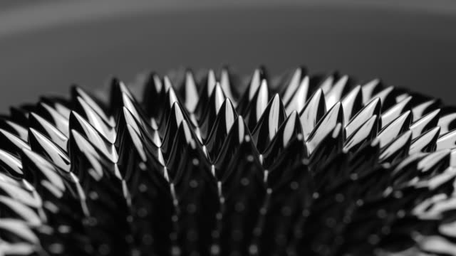 Black liquid surface. Abstract background. Ferrofluid. Сlose-up 4K UHD 2160p footage. magnet stock videos & royalty-free footage