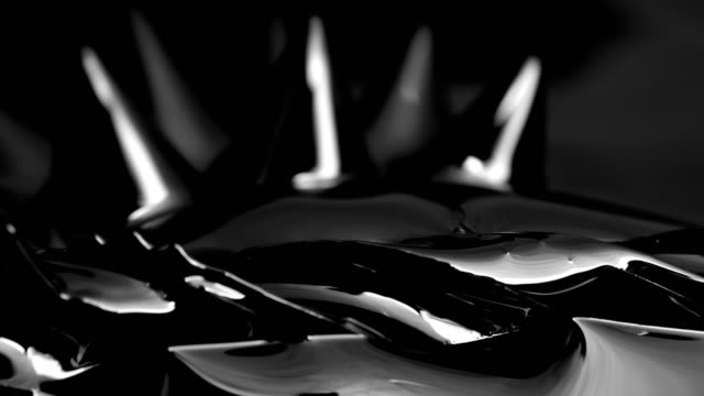 Black liquid surface. Abstract background. video