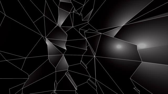 svart låg poly abstrakt bakgrund. smidigt loopable. - spindelväv bildbanksvideor och videomaterial från bakom kulisserna