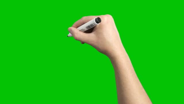 stockvideo's en b-roll-footage met zwarte marker whiteboard scribble mannenhand lus - schrijven