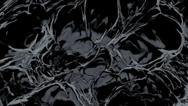 Black noisy matter. (loop-ready file) video