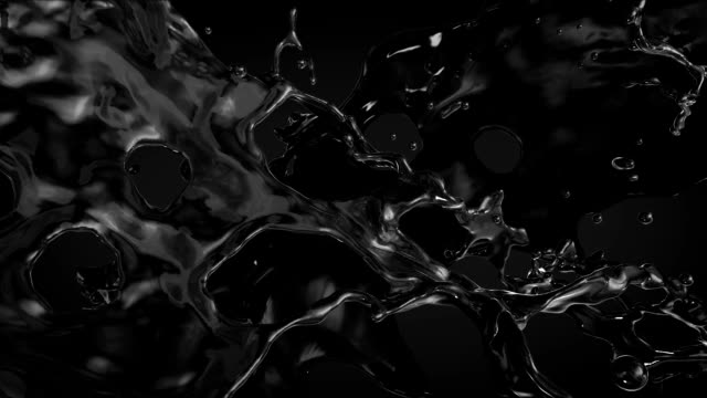 Black Oil with alpha. Slow motion. video