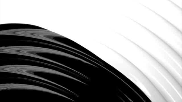 black paint fluid flow on white