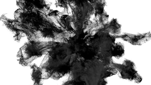 stockvideo's en b-roll-footage met zwarte deeltjes stof/rook explosie - talk